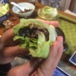 肉味噌のレタス包みのレシピ!掴んでがぶりっ!